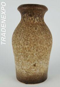 Vintage-60-70-SCHEURICH-KERAMIK-523-18-Brown-Vase-West-German-Pottery-Fat-Lava