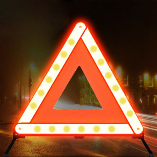 Large Warning Car Triangle Reflective Road Emergency Breakdown Safety Sign 9UK
