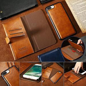 Floveme-2-en-1-separable-Magnetique-Etui-Portefeuille-En-Cuir-Cover-pour-iPhone-7-plus
