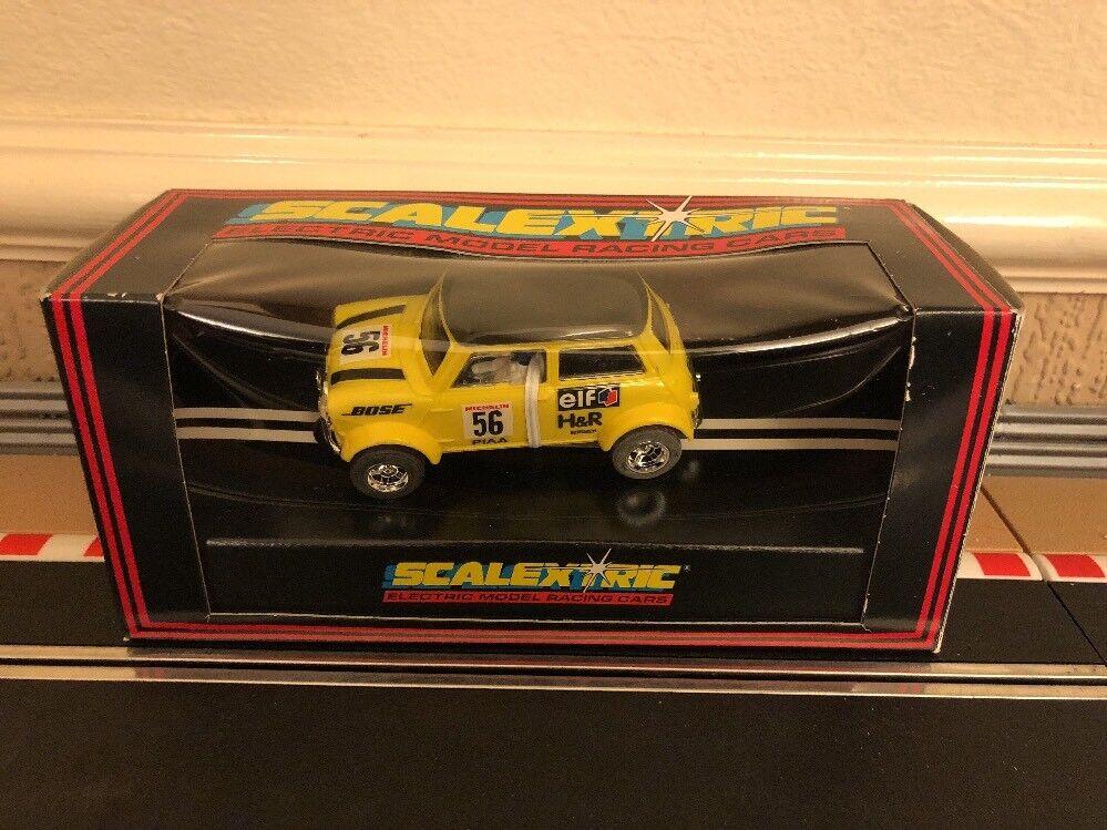 Scalextric Yellow Mini No56 C.2104 Very Rare Car, New Boxed