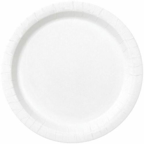 Solid Colour Party//Wedding//Christening//Catering Disposable Round Paper Plates