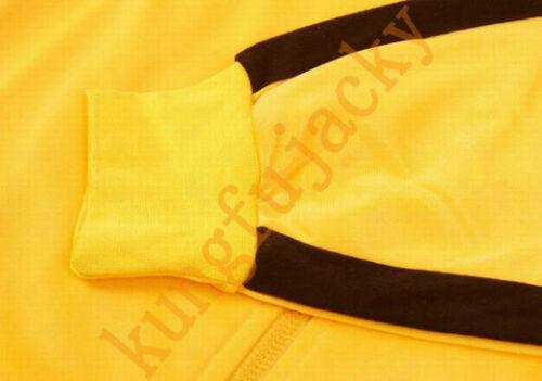 Mens Yellow Bruce Lee Game Of Death kill Bill Track suit Kungfu Ninja Uniform
