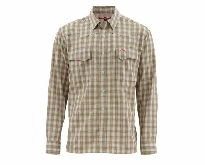 Simms Big Sky Long Sleeve Shirt Canteen Plaid  Dimensione Medium  CLOSEOUT
