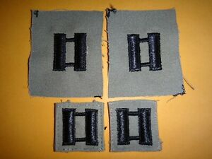 Set-Of-4-US-Military-CAPTAIN-Rank-Collar-Devices