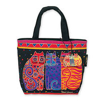 Feline Friends Laurel Burch Small Square Shoulder Tote Bag