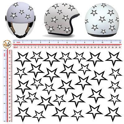 stelle bianconere adesivi sticker helmet stars white black print pvc 20 pz