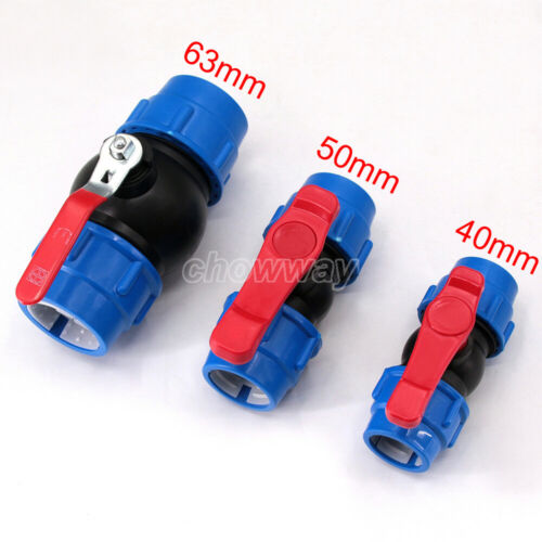 40//50//63mm Irrigation PE pipe fast black blue hat water pipe valve switch valve