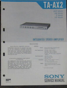 sony ta ax2 hifi amplifier service repair workshop manual original rh m ebay ie Sony Ta Amp Sony Ta- H3800