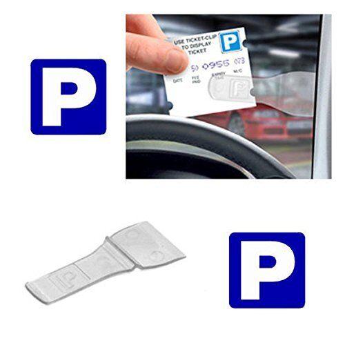 3 x Car Windscreen Parking Ticket Permit Pass Holder Clip 3 Pack