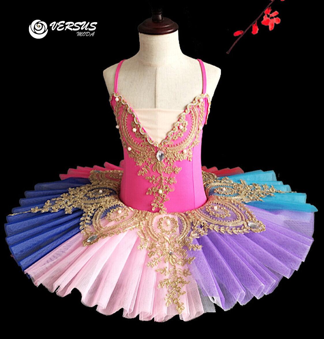 Vestito Tutù Saggio Danza Bambina Ragazza MultiColoreee Btuttiet Tutu Dress DANC149