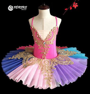 Ben Informato Vestito Tutù Saggio Danza Bambina Ragazza Multicolor Ballet Tutu Dress Danc149