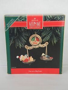"""Hallmark /""""Fun on a Big Scale/"""" Ornament 1992"""