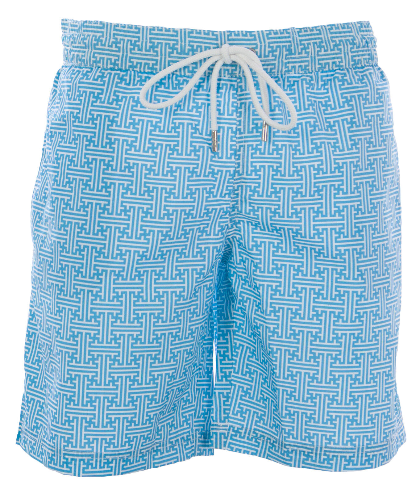 NAILA Men's Turquoise Line Printed Swim Trunks EVIANTUQ NEW
