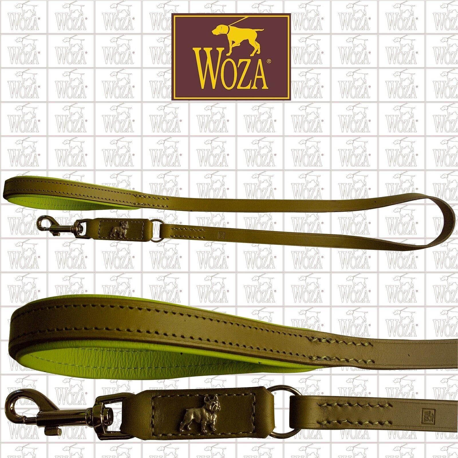 WOZA Premium Hundeleine Französische Bulldogge Vollleder Rindnappa Leash LO1960  | Jeder beschriebene Artikel ist verfügbar