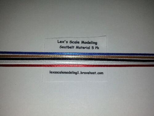 Seatbelt-Material-5-Color-Pack-1-24-amp-1-25-Models