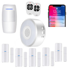 Smart Security System WiFi Alarm System Kit Wireless With App Push and Calling