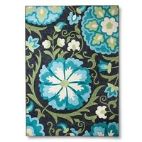 Maples Rugs Floral Area Rug - Blue