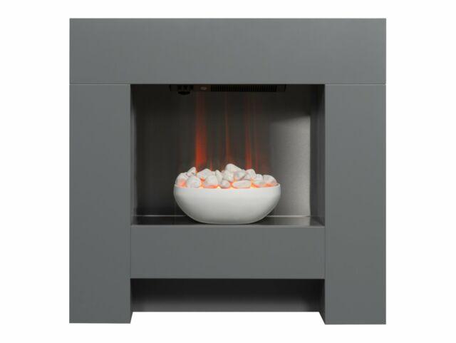 """Adam Cubist Electric Fireplace Suite Grey, 36"""""""