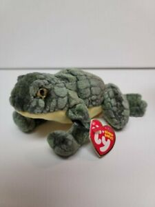 """Ty Beanie Babies-Ponder The Frog-MWMT-Ready To Have a Good Think-6"""""""