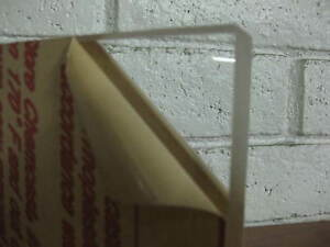 "2 INCH THICK !CAST ACRYLIC PLEXIGLASS BLOCK CLEAR SHEET 2"" X 3-13/16 "" x 18.5 """