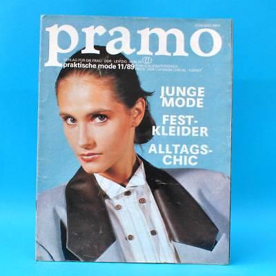 Ddr Pramo 11/1989 Praktische Mode Schnittmuster D Jugendweihe Festkleider Modischer (In) Stil;