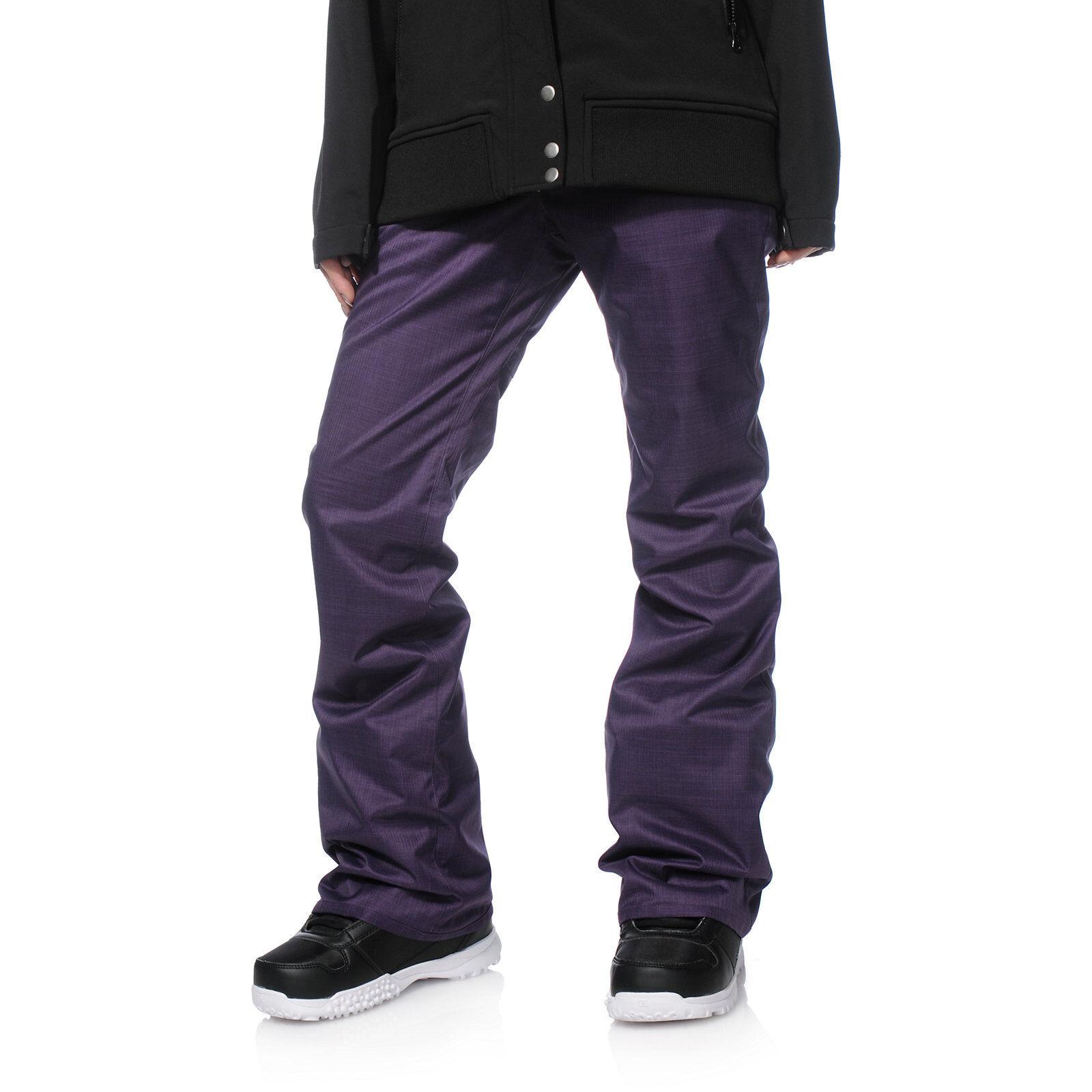 WOMEN'S Volcom Transfer Purple 10K Snowboard Pants NEW