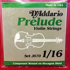 D´Addario Prelude Geige Saitensatz Set J870 - 1/16 - Hexagon Steel Core