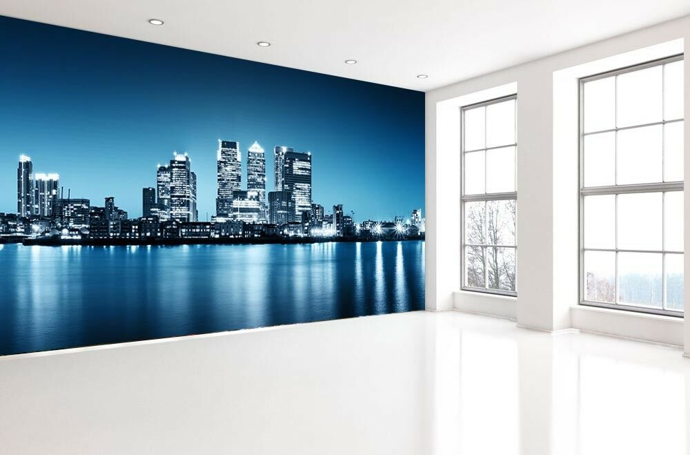 3D Stadt Leicht Meer 73 Tapete Wandgemälde Tapete Tapeten Bild Familie DE