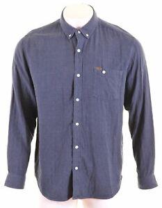 TIMBERLAND-Mens-Shirt-XL-Blue-Slim-Fit-NB05
