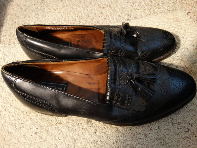 NORDSTROM  Beautiful US  Leather Shoes  US Beautiful Sz. 10 B/AA 041878