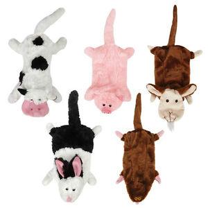 Unstuffies-Dog-Toy-FARM-FRIENDS-toys-cow-pig-goat-mole-rabbit-stuffing-free
