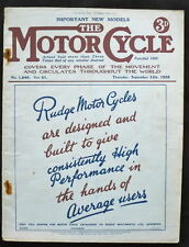 El motor Revista ciclo 15 Septiembre 1938-Morgans, Velocette, Manés Grand Prix