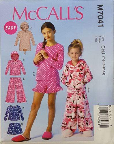 MCCALL/'S PATTERN TOP DRESS PANTS SHORTS EASY GIRLS/' SIZE 3-6 or 7-14 # M7041