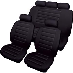 TOYOTA PRIUS 2005-2019 PREMIUM FULL SET LEATHER LOOK SEAT COVER SET BLACK HB