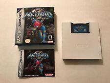 Metroid Fusion (Nintendo Game Boy Advance, 2002) Complete CIB