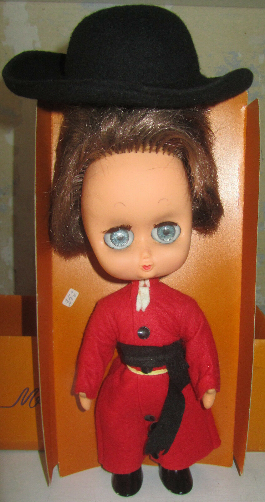 Bambola Maura Creazioni Cardinale Doll flirty big google eyes made in italy DEDO