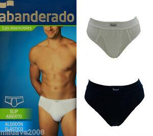 Men-s-slip-brief-open-fly-stretch-cotton-abierto-Abanderado-algodon-elastico