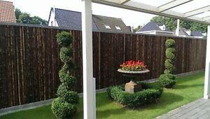 Sichtschutz-BALI-BLACK-Bambus-Garten-Gartenzaun-Windschutz-Sichtschutzmatte