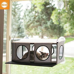 K-amp-H-EZ-MOUNT-KITTY-SILL-PENTHOUSE-GREY-BLACK-CAT-WINDOW-SILL-BED-9520