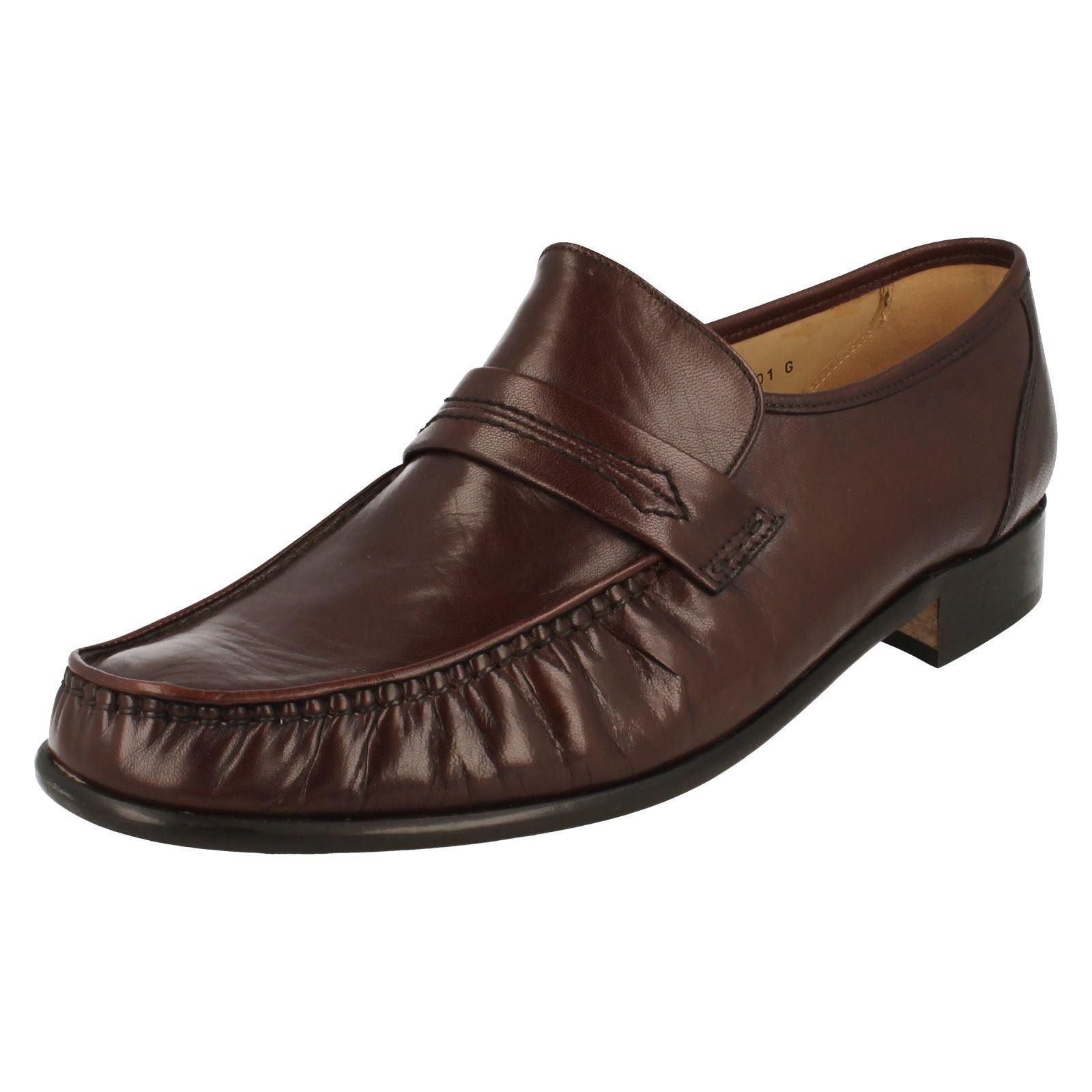 Grenson' Watford A Herren braunes Leder True Mokassin ohne Bügel Slipper Schuh G
