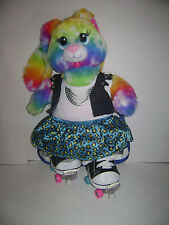 """BUILD A BEAR WORKSHOP BUNNY DRESSED ROLLER SKATER OUTFIT PLUSH STUFFED  17"""" CUTE"""