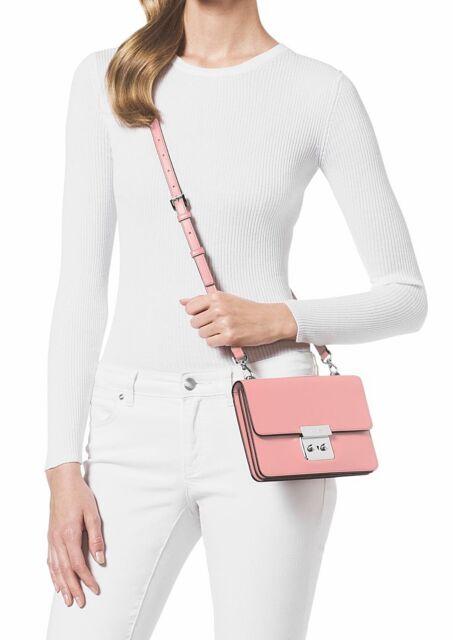 1d391a4ba7e6 Michael Kors Sloan Small Gusset Crossbody Pale Pink Leather 32s6sslc4l