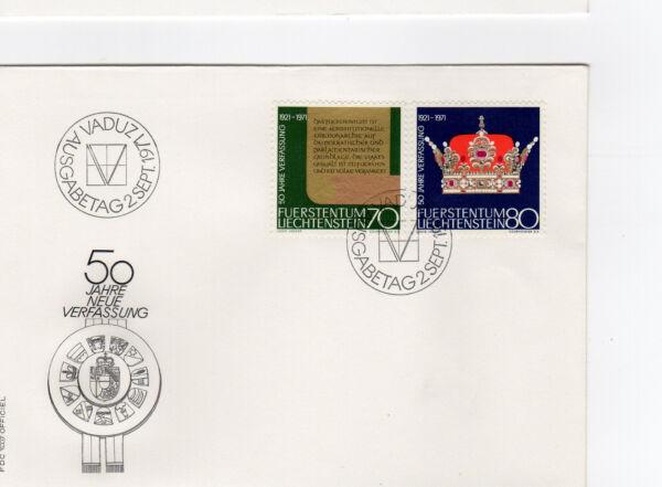 1971 Fdc Liechtenstein Vaduz /fdce34