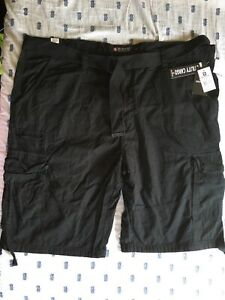 Mens SOUTH POLE Black Belted Cargo Shorts BIG /& TALL Black Size 48 NWT $52.00