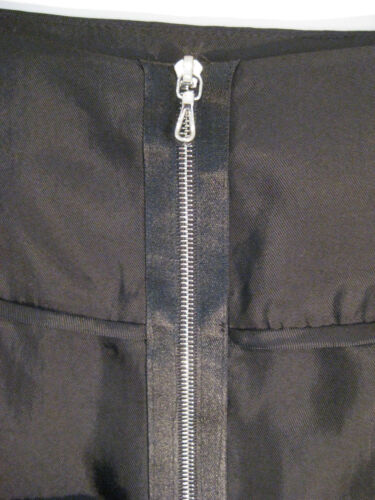 Ho à taille 8 Lisa Jupe designer noir effet plissé SUzMGqVp