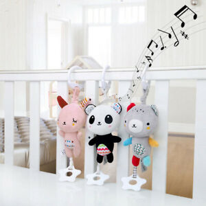 1x-Baby-Carriage-Crib-Teether-Soft-Plush-Rattle-Toy-Hanging-Ring-Bell-Music-Box