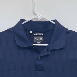 Adidas-Climacool-Mens-Golf-Polo-Blue-Large
