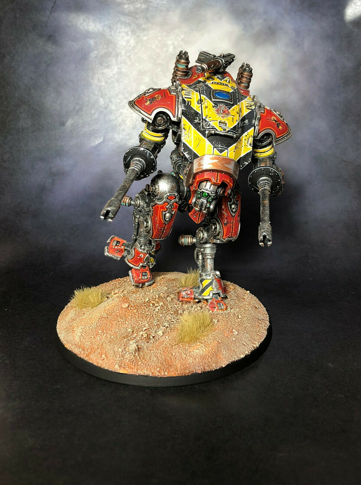 Warhammer 40k 2x Armiger Helverin House Raven Pro Painted Imperial Knight