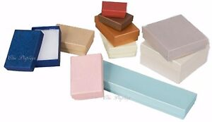 LOT-OF-20-50-100-EMBOSSED-COTTON-FILLED-BOX-MIXED-JEWELRY-BOXES-GIFT-BOX-lt-DEAL-gt