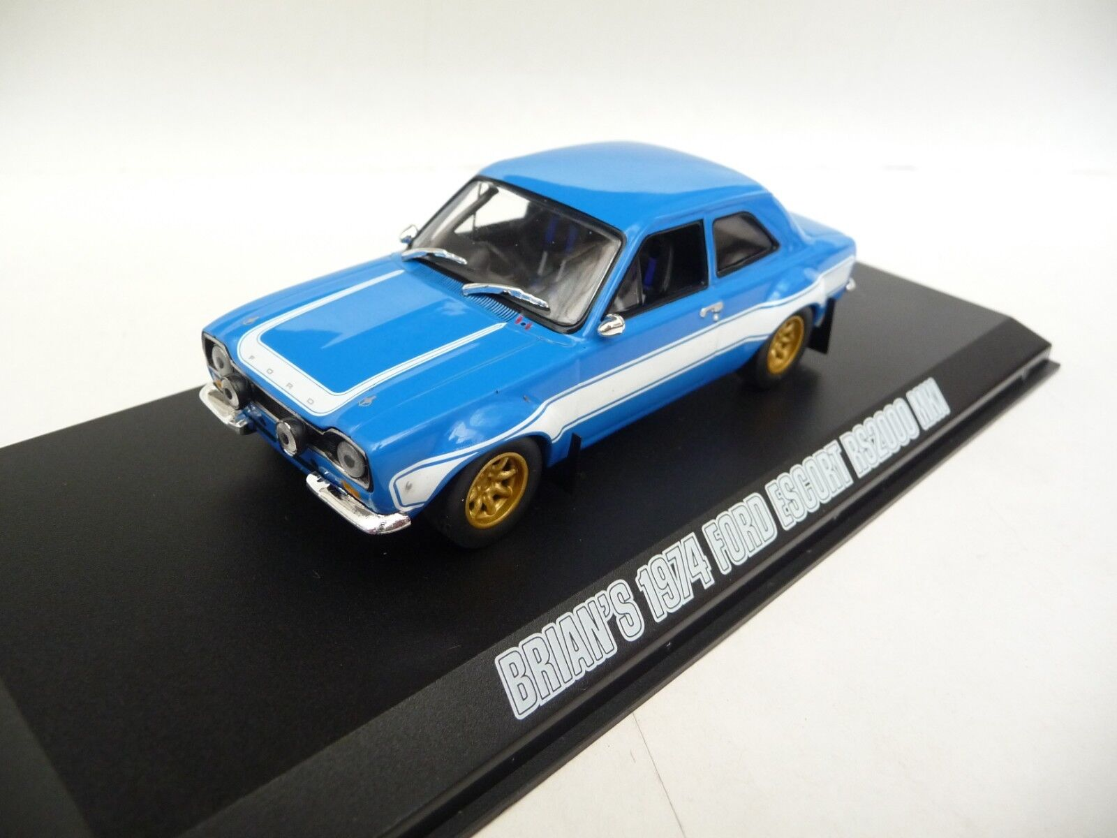 Green Light 1 43 Ford Escort RS2000 Mk1 1974 bluee Fast and Furious 6 GL86222